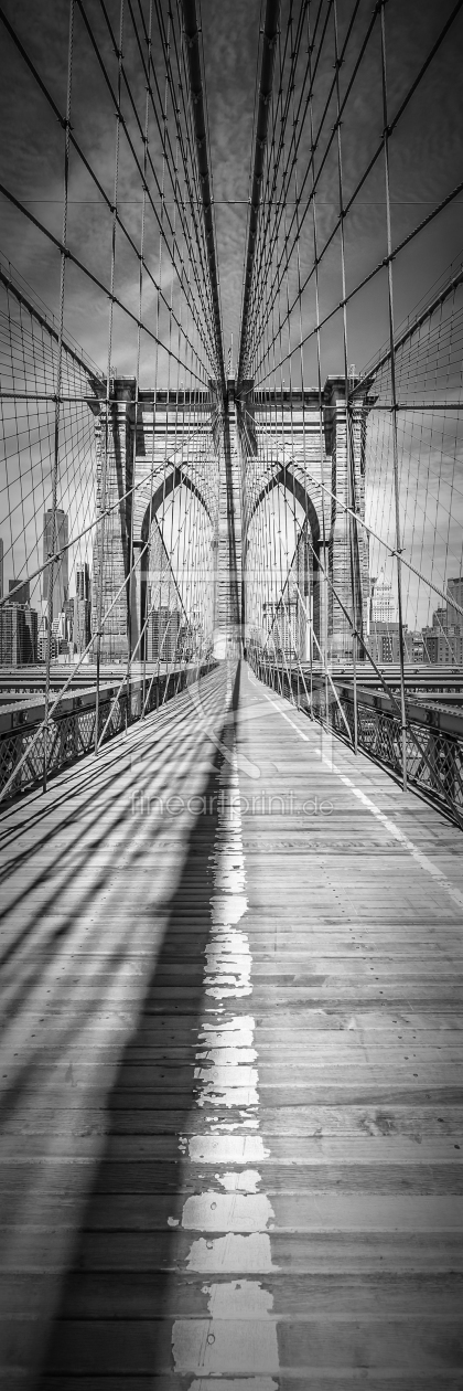 Bild-Nr.: 11936384 NEW YORK CITY Brooklyn Bridge - Panorama vertikal erstellt von Melanie Viola