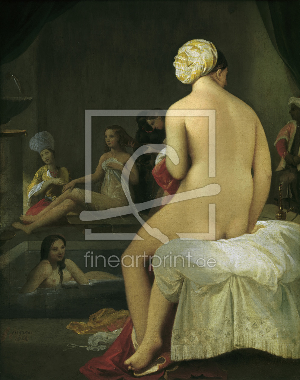 Bild-Nr.: 30001188 Ingres / Little Bather in Harem / 1828 erstellt von Ingres, Jean-Auguste-Dominique