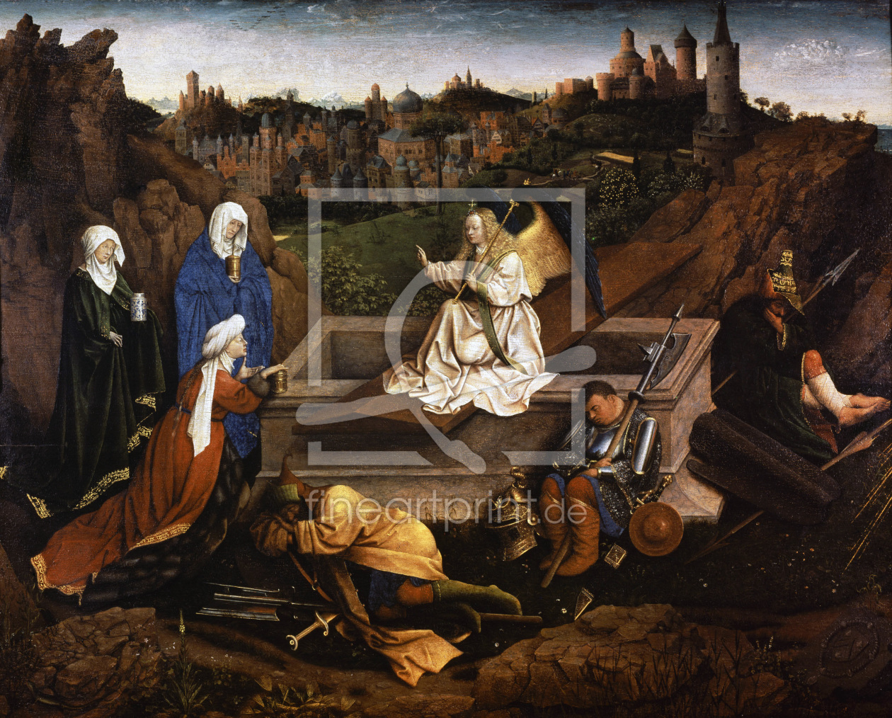 Bild-Nr.: 30002600 Three Maries at the Grave / van Eyck erstellt von van Eyck, Hubert & Jan