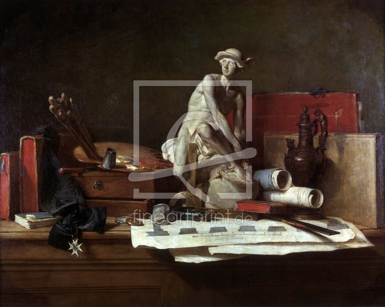 Bild-Nr.: 30007455 Chardin / The Attributes of the Arts erstellt von Chardin, Jean Siméon