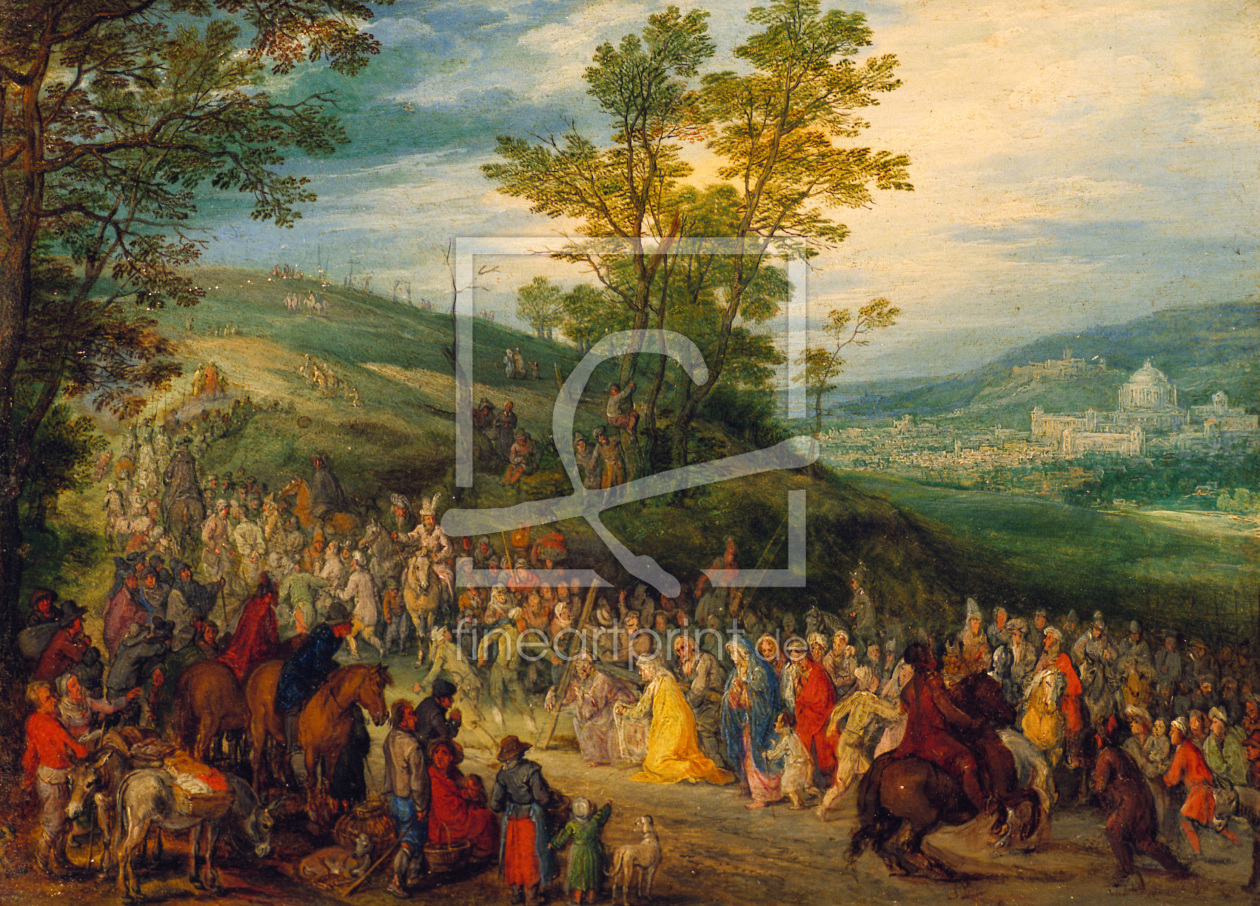 Bild-Nr.: 30007869 The Way to Calvary / Brueghel / c.1606 erstellt von Jan Brueghel the older