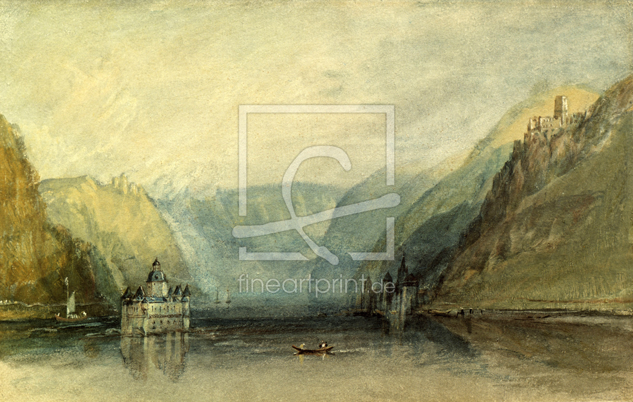 Bild-Nr.: 30008085 William Turner / The Pfalz near Kaub erstellt von Turner, Joseph Mallord William