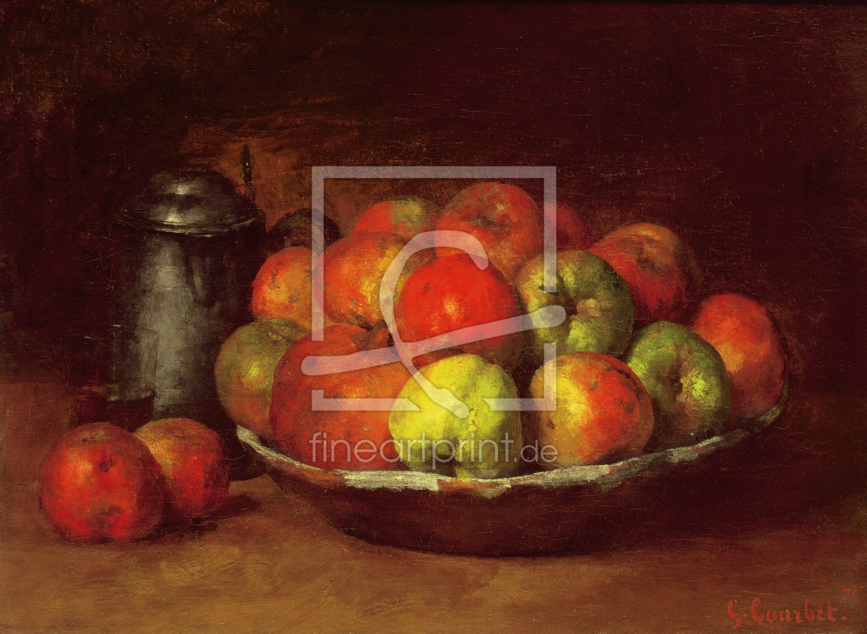 Bild-Nr.: 31000298 Still Life with Apples and a Pomegranate, 1871-72 erstellt von Courbet, Gustave