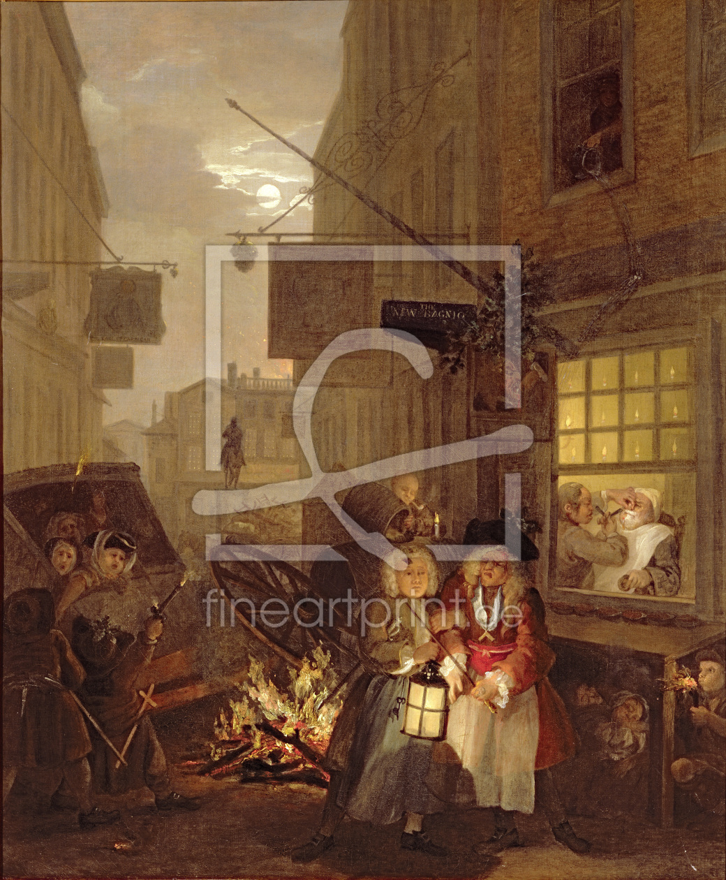 Bild-Nr.: 31000650 The Four Times of Day: Night, 1736 erstellt von Hogarth, William