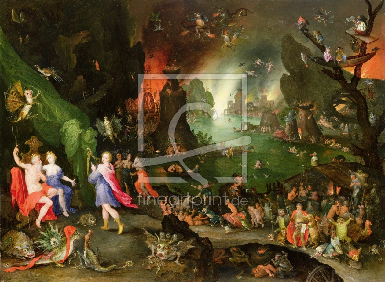 Bild-Nr.: 31000697 Orpheus with a Harp Playing to Pluto and Persephone in the Underworld erstellt von Jan Brueghel the older
