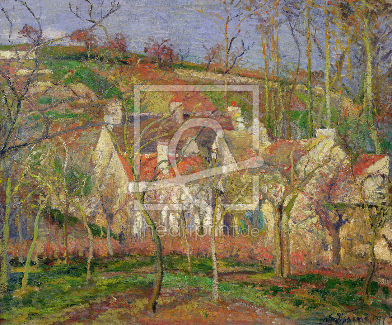 Bild-Nr.: 31000981 The Red Roofs, or Corner of a Village, Winter, 1877 erstellt von Pissarro, Camille