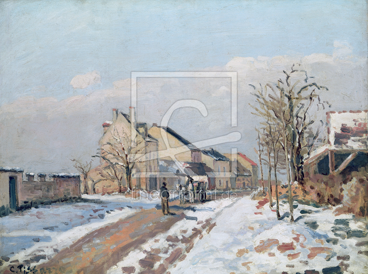 Bild-Nr.: 31000982 The Road from Gisors to Pontoise, Snow Effect, 1872 erstellt von Pissarro, Camille
