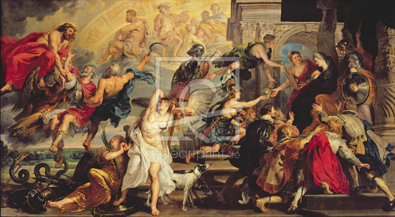 Bild-Nr.: 31001217 The Apotheosis of Henri IV and the Proclamation of the Regency of Marie de Medic erstellt von Rubens, Peter Paul
