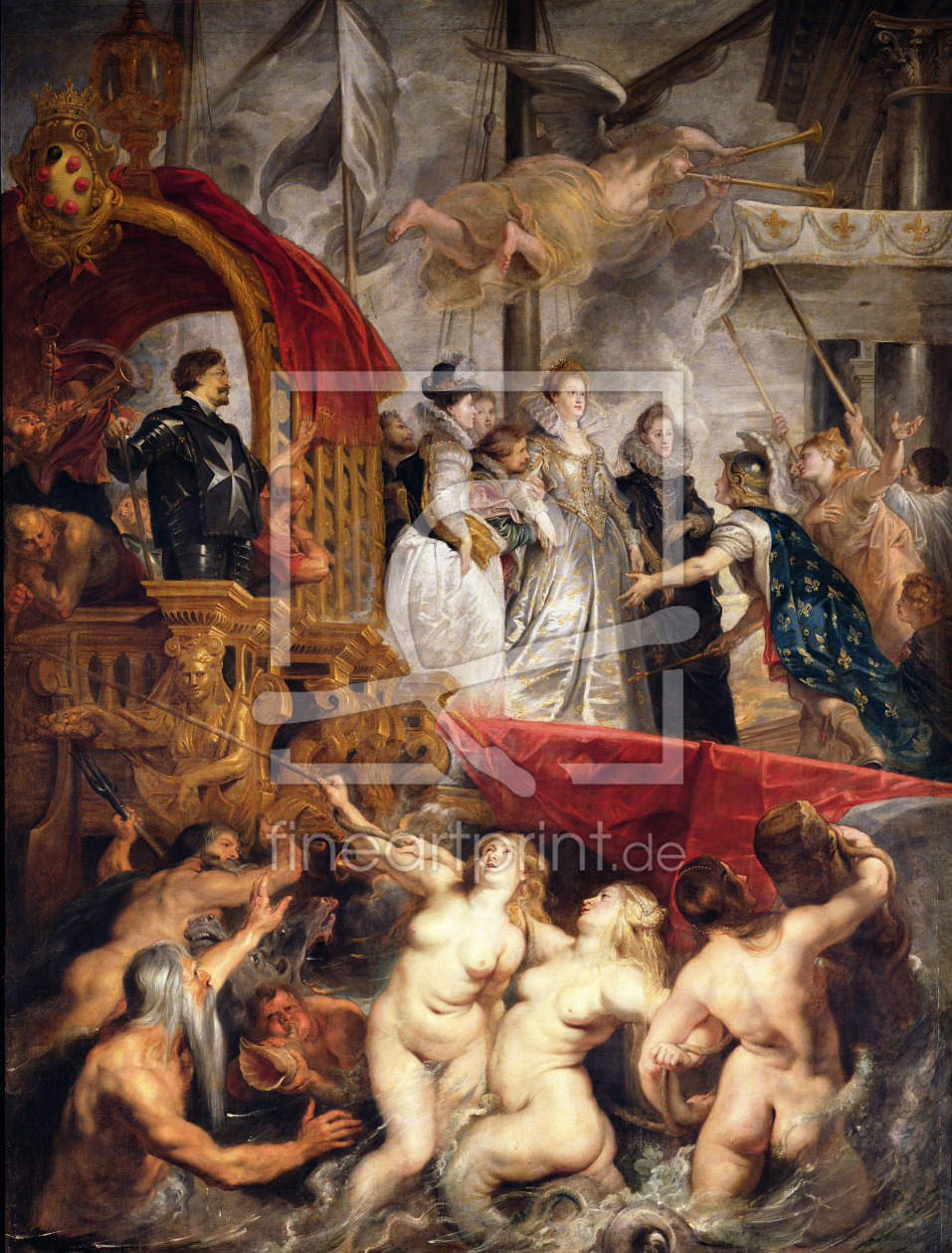 Bild-Nr.: 31001219 The Arrival of Marie de Medici in Marseilles, 3rd November 1600, 1621-25 erstellt von Rubens, Peter Paul
