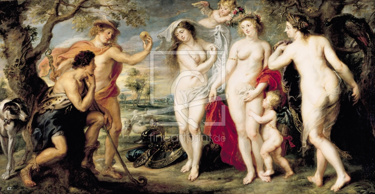 Bild-Nr.: 31001229 The Judgement of Paris, 1639 erstellt von Rubens, Peter Paul