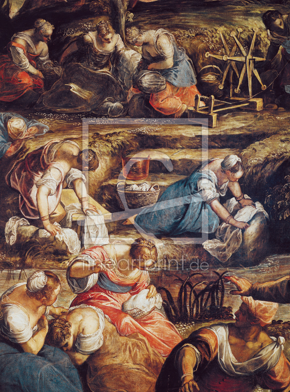 Bild-Nr.: 31001246 The Miraculous Fall of Manna, detail of women working erstellt von Tintoretto, Jacopo