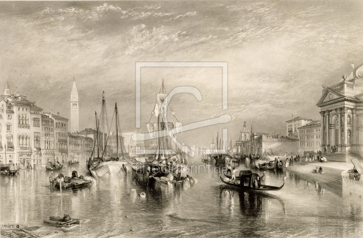 Bild-Nr.: 31001255 The Grand Canal, Venice, engraved by William Miller 1838-52 erstellt von Turner, Joseph Mallord William