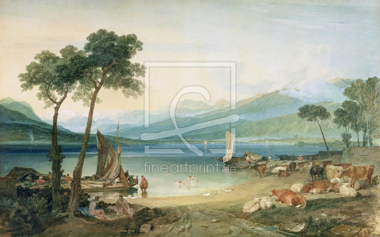 Bild-Nr.: 31001265 Lake Geneva and Mont Blanc, 1802-5 erstellt von Turner, Joseph Mallord William