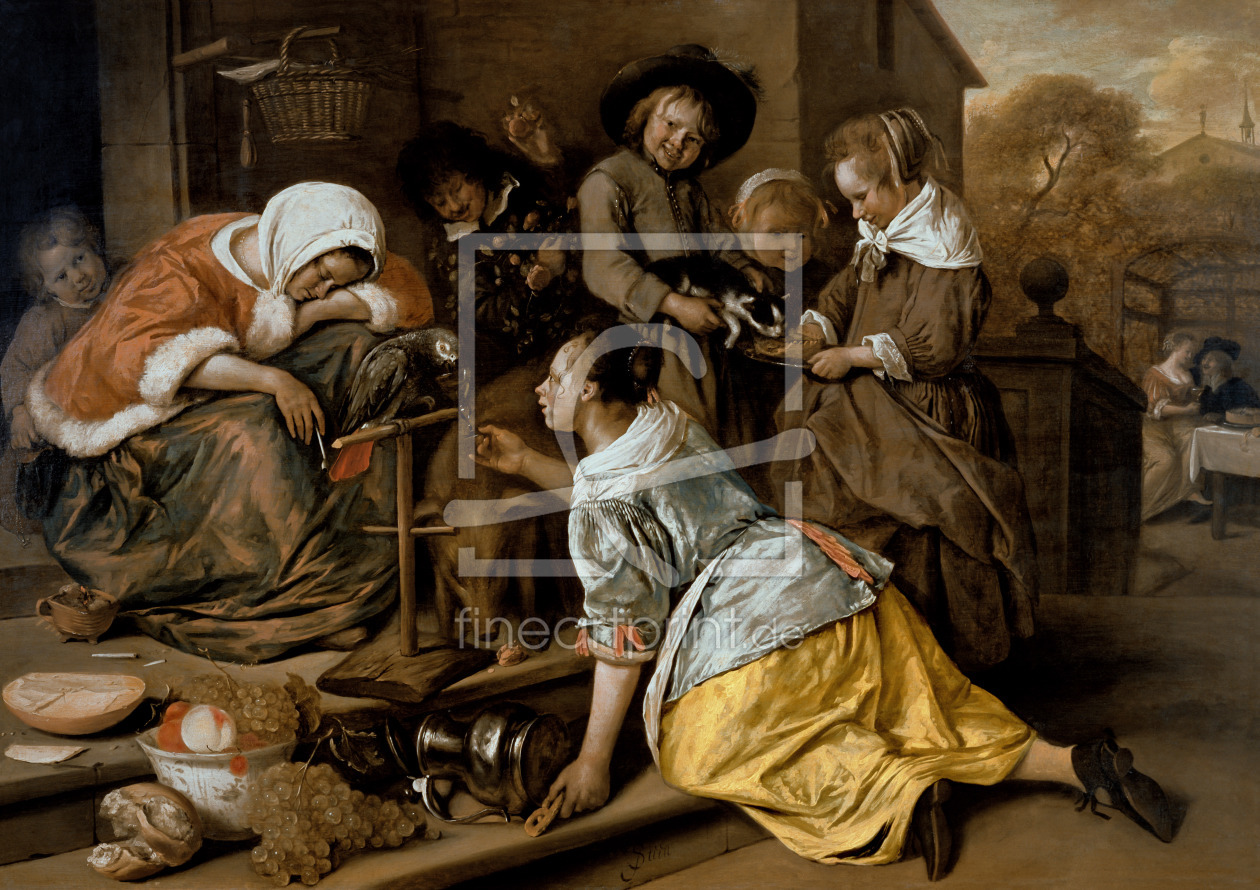Bild-Nr.: 31001465 The Effects of Intemperance, c.1663-65 erstellt von Steen, Jan Havicksz.