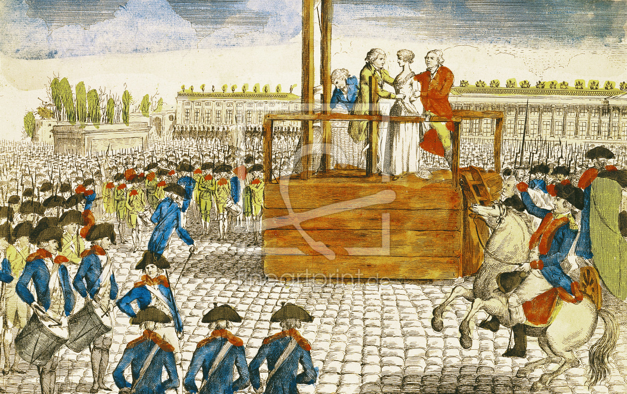 Bild-Nr.: 31001957 Execution of Marie-Antoinette in the Place de la Revolution, 16th October 1793 erstellt von Anonyme Künstler