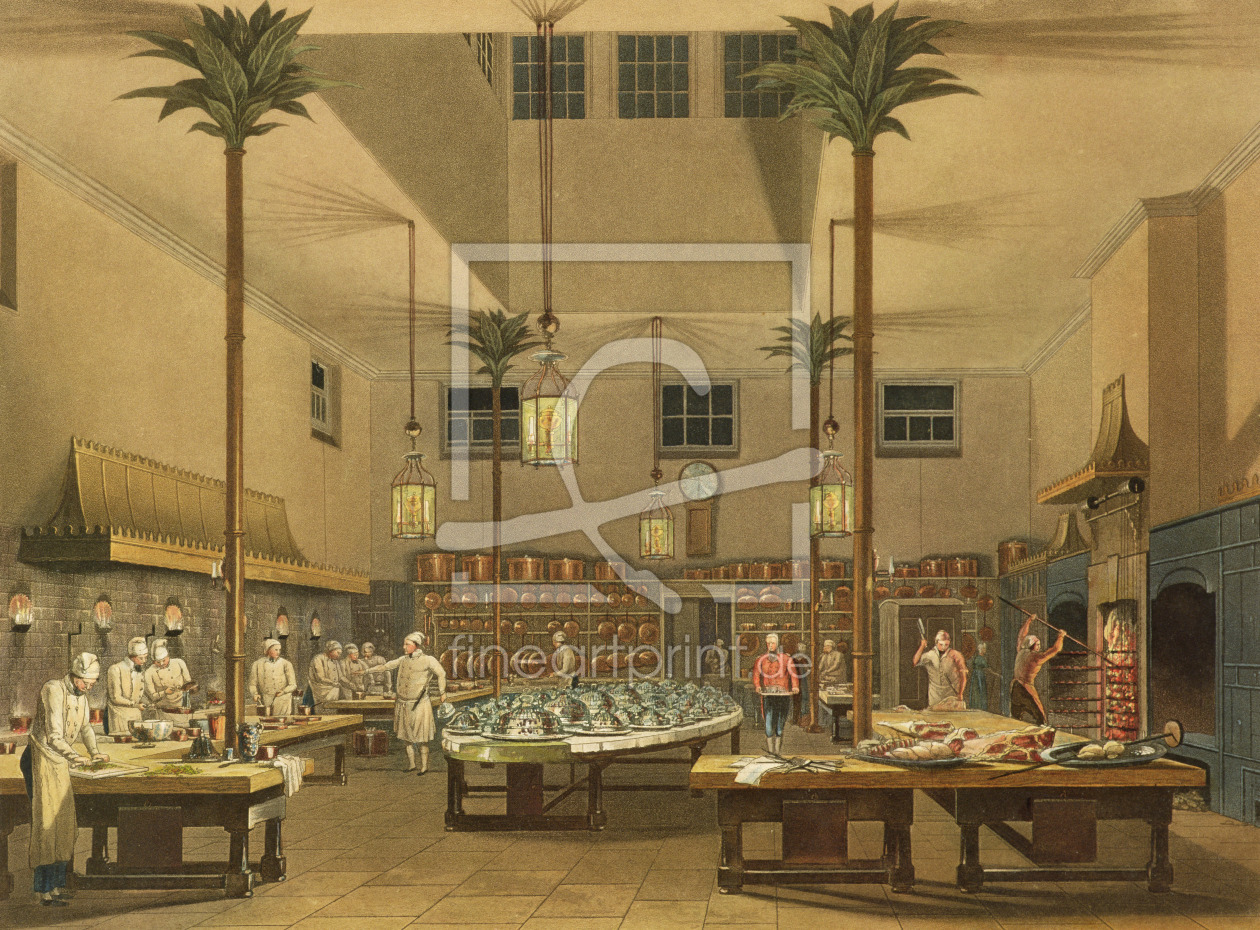 Bild-Nr.: 31002035 The Great Kitchen, from 'Views of The Royal Pavilion, Brighton' by John Nash 182 erstellt von Anonyme Künstler