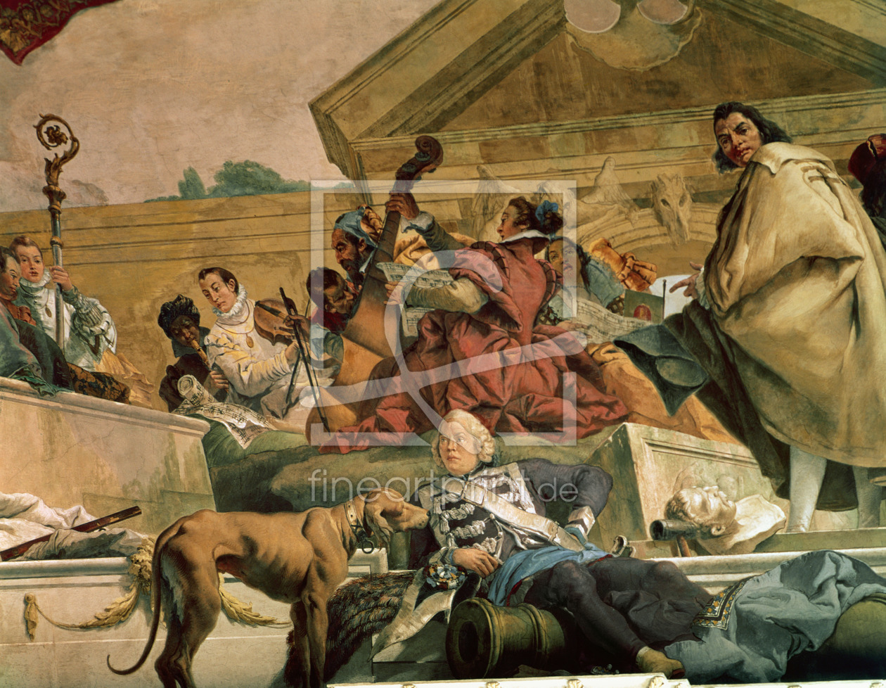 Bild-Nr.: 31002427 Europe, one of the Four Continents from the ceiling of the 'Treppenhaus', 1750-5 erstellt von Tiepolo, Giovanni Battista (Giambattista)