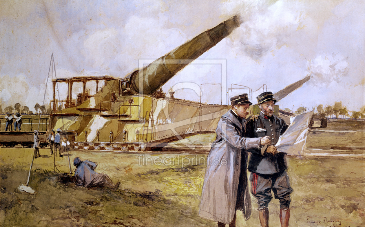 Bild-Nr.: 31002456 Heavy Artillery on the Railway, October 1916 erstellt von Flameng, Francois