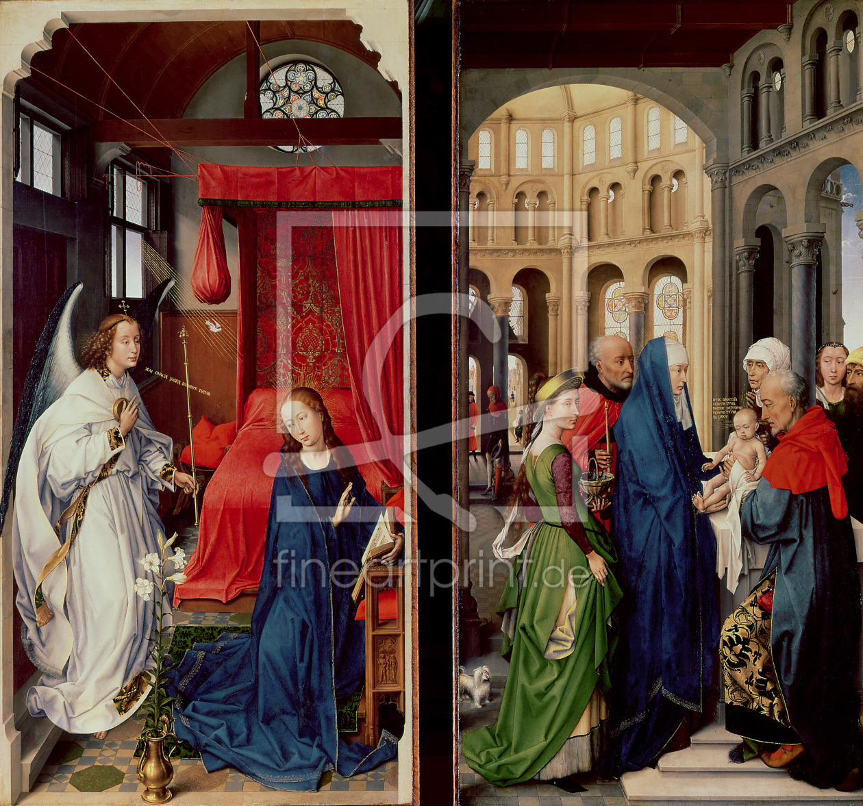 Bild-Nr.: 31002499 The Annunciation and the Presentation in the Temple erstellt von Weyden, Rogier van der