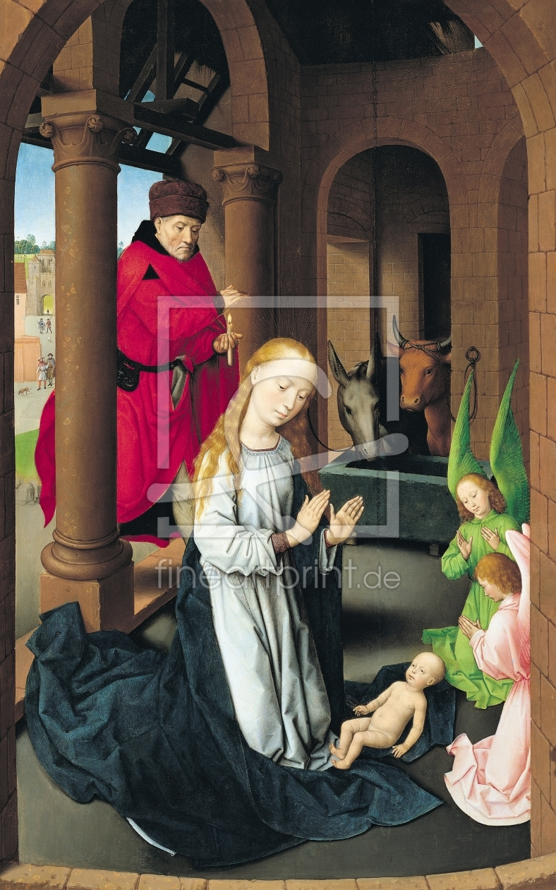 Bild-Nr.: 31002503 The Nativity, left wing of a triptych of the Adoration of the Magi, c.1470-72 erstellt von Memling, Hans