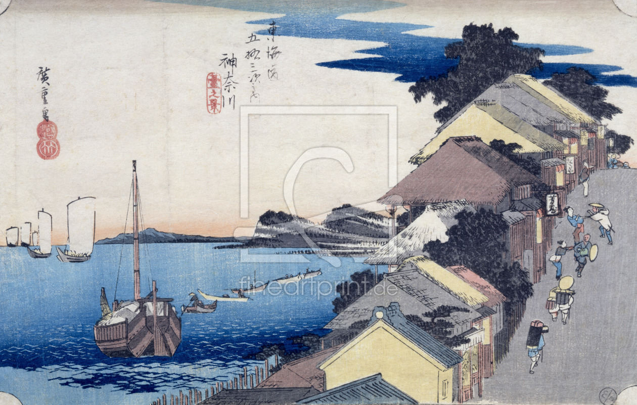 Bild-Nr.: 31002614 Kanagawa: View of the Ridge, from the series '53 Stations of the Tokaido', 1834- erstellt von Hiroshige, Ando