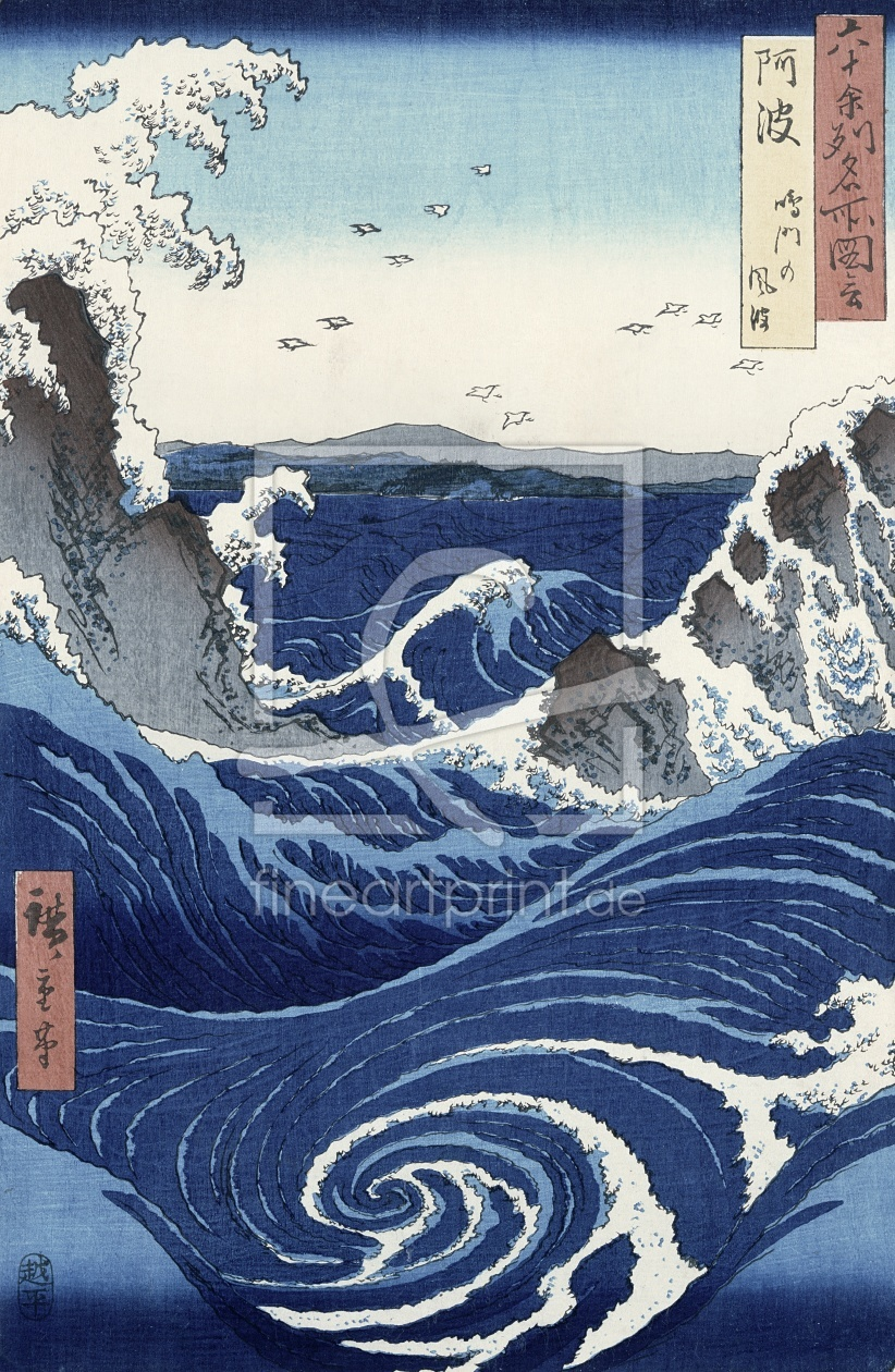 Bild-Nr.: 31002623 View of the Naruto whirlpools at Awa, from the series 'Rokuju-yoshu Meisho zue' erstellt von Hiroshige, Ando
