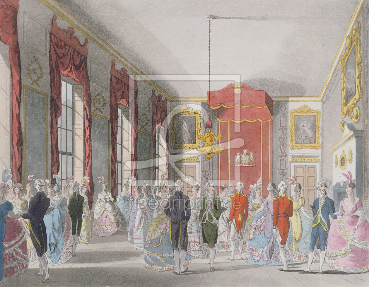 Bild-Nr.: 31002629 Drawing Room, St. James's, engraved by John Bluck published by Ackermann's 'Repo erstellt von Rowlandson, Thomas