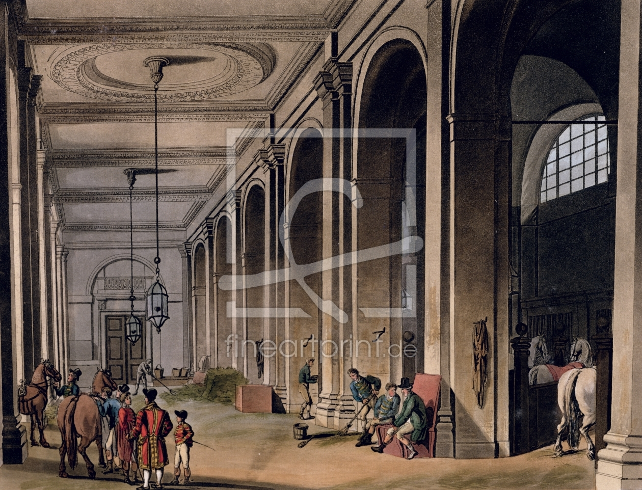 Bild-Nr.: 31002630 Kings Mews, Charing Cross from Ackermann's 'Microcosm of London' erstellt von Rowlandson, Thomas