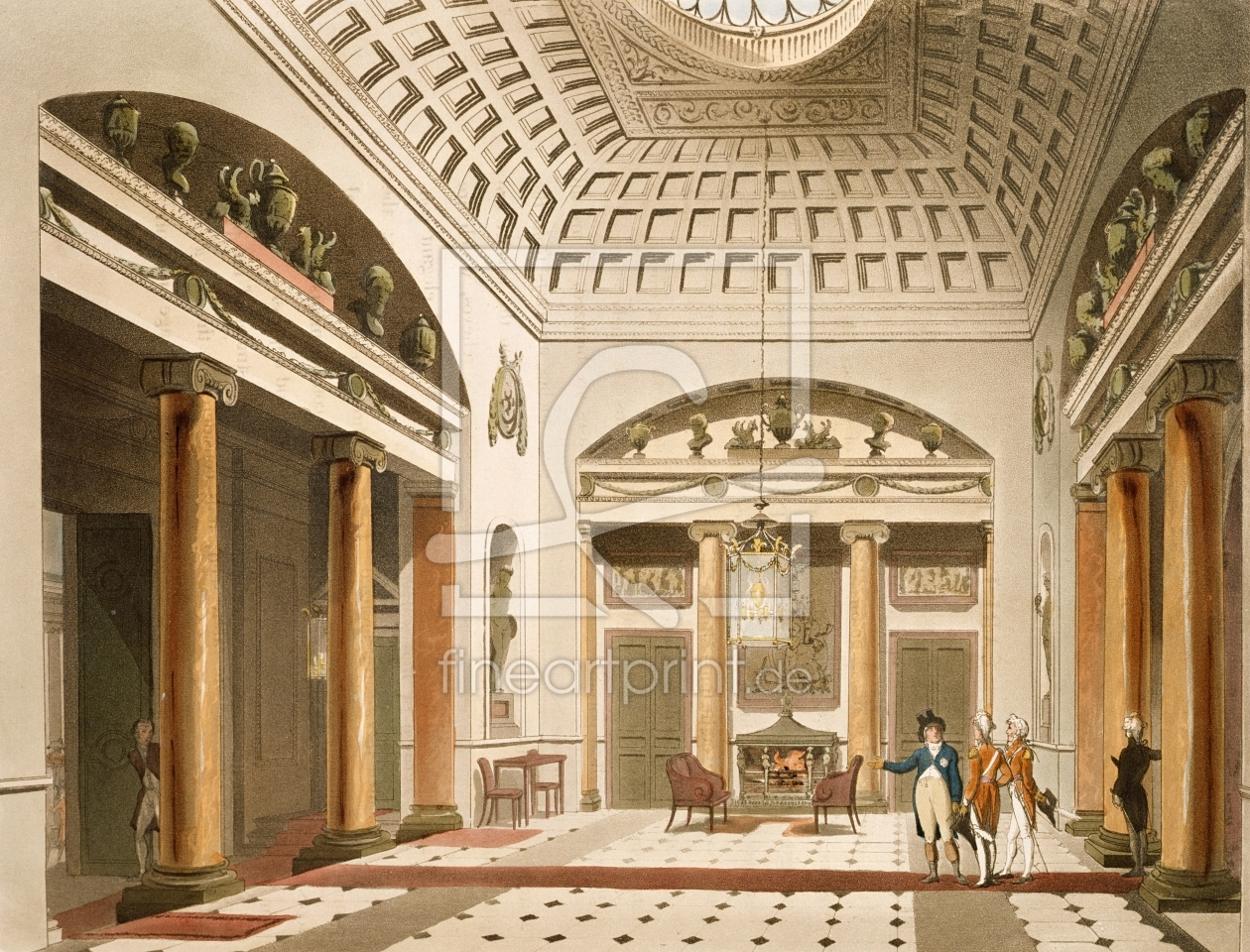 Bild-Nr.: 31002631 The Hall, Carlton House, from Ackermann's 'Microcosm of London' erstellt von Rowlandson, Thomas