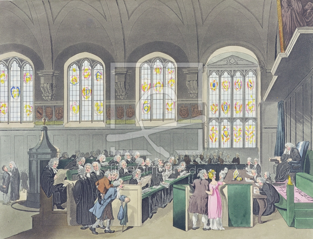 Bild-Nr.: 31002636 Court of Chancery, Lincoln's Inn Hall, engraved by Constantine Stadler , 1808 erstellt von Rowlandson, Thomas