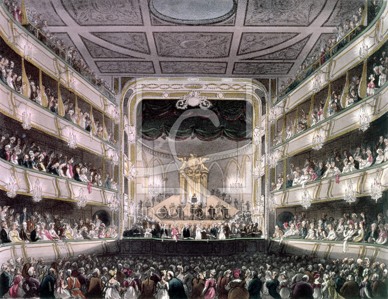 Bild-Nr.: 31002639 Covent Garden Theatre, 1808, from 'Ackermann's Microcosm of London' engraved by  erstellt von Rowlandson, Thomas