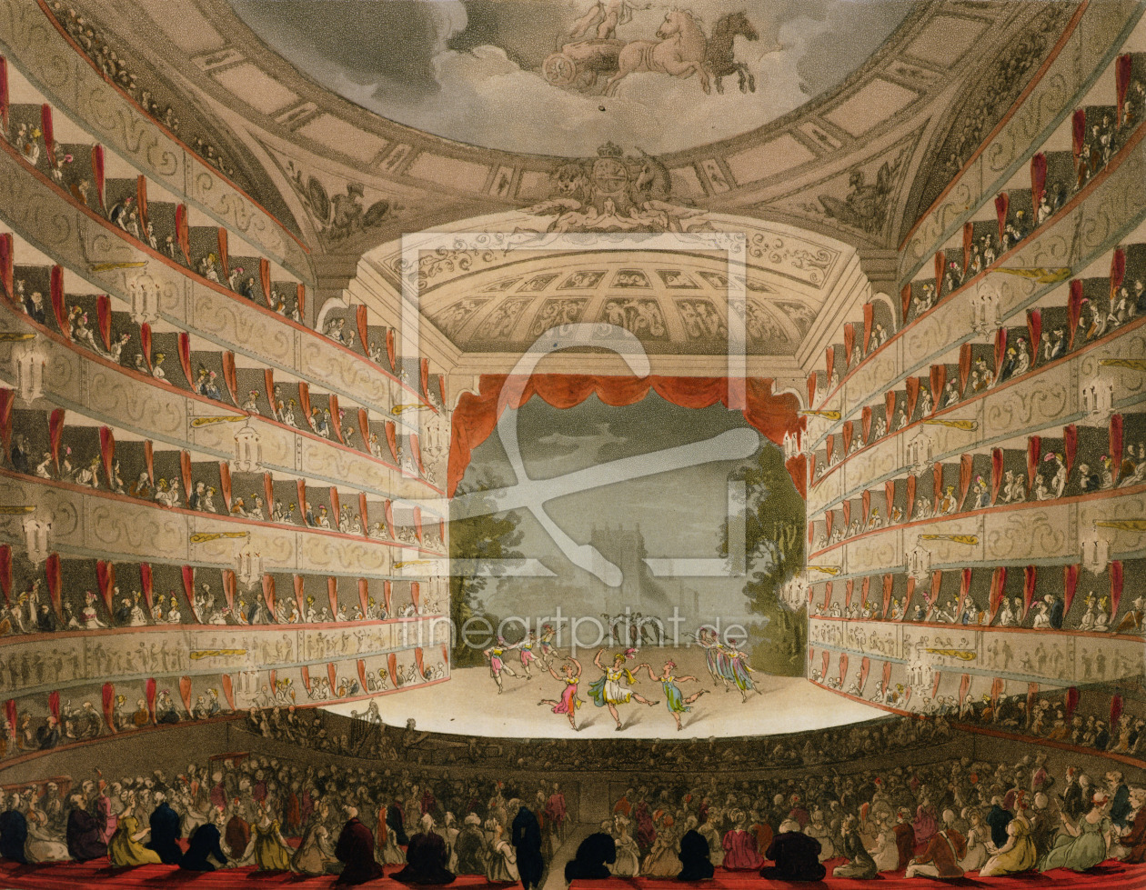 Bild-Nr.: 31002640 Kings Theatre Opera House, engraved by J. Bluck, pub. by Ackermann's 'Repository erstellt von Rowlandson, Thomas