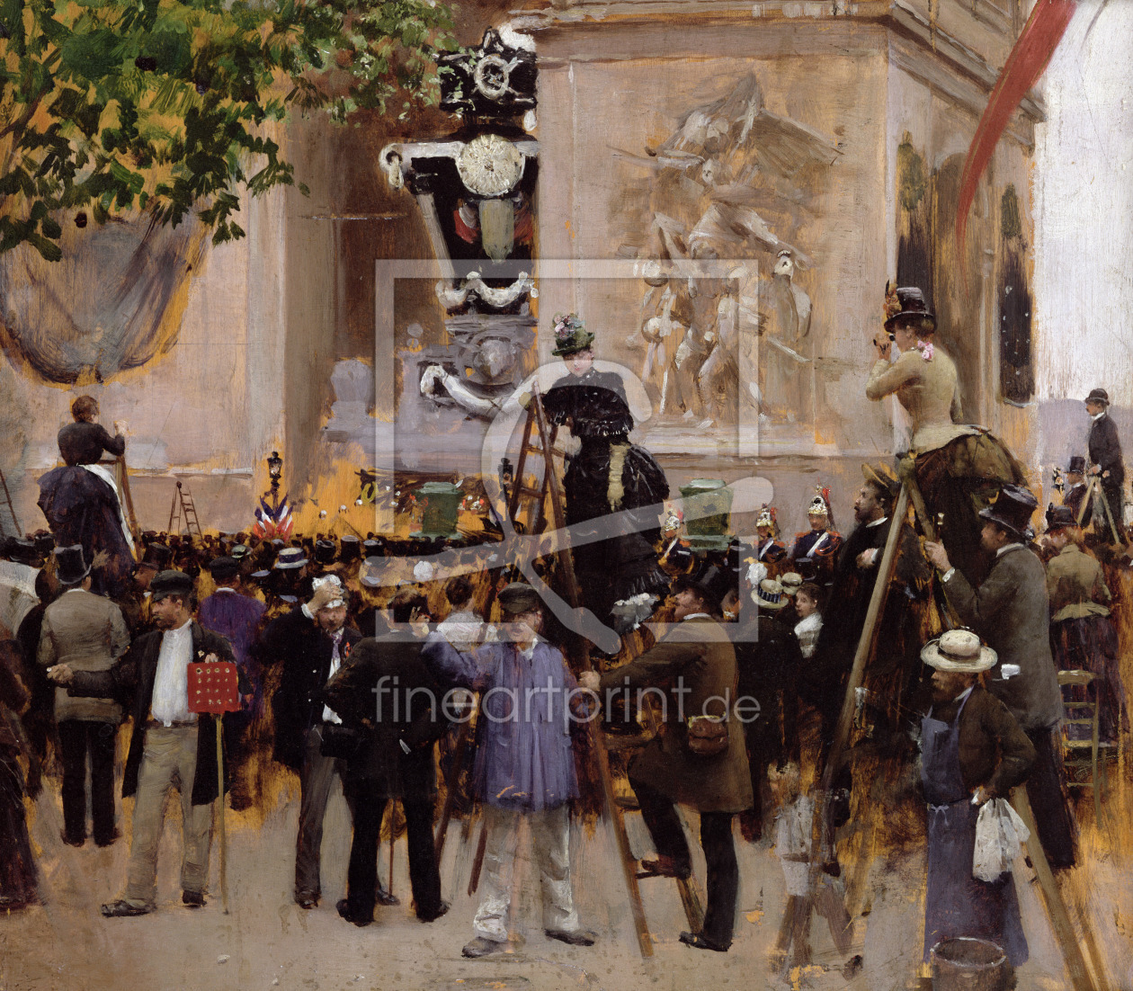 Bild-Nr.: 31002649 The Funeral of Victor Hugo at the Arc de Triomphe, 1885 erstellt von Beraud, Jean