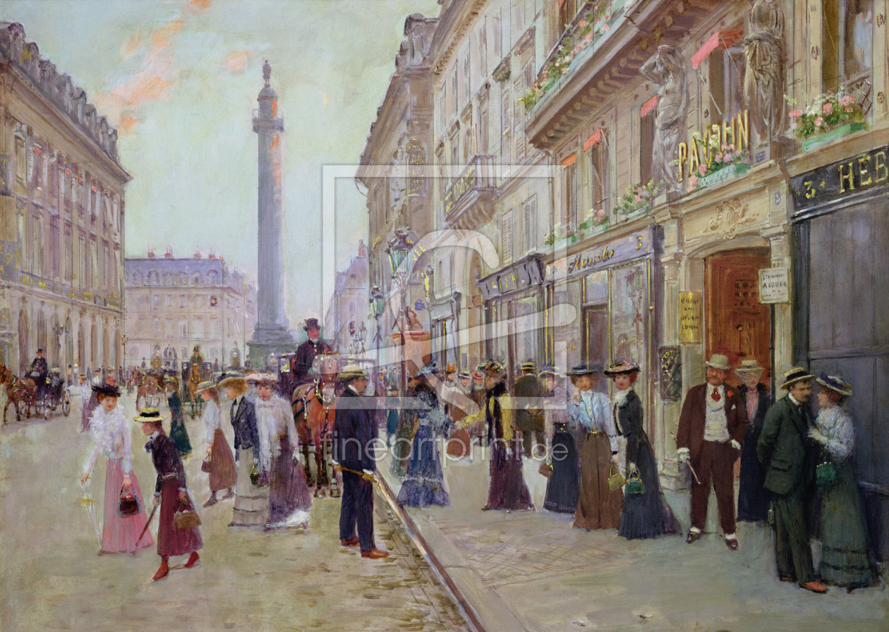 Bild-Nr.: 31002652 Workers leaving the Maison Paquin, in the rue de la Paix, c.1900 erstellt von Beraud, Jean