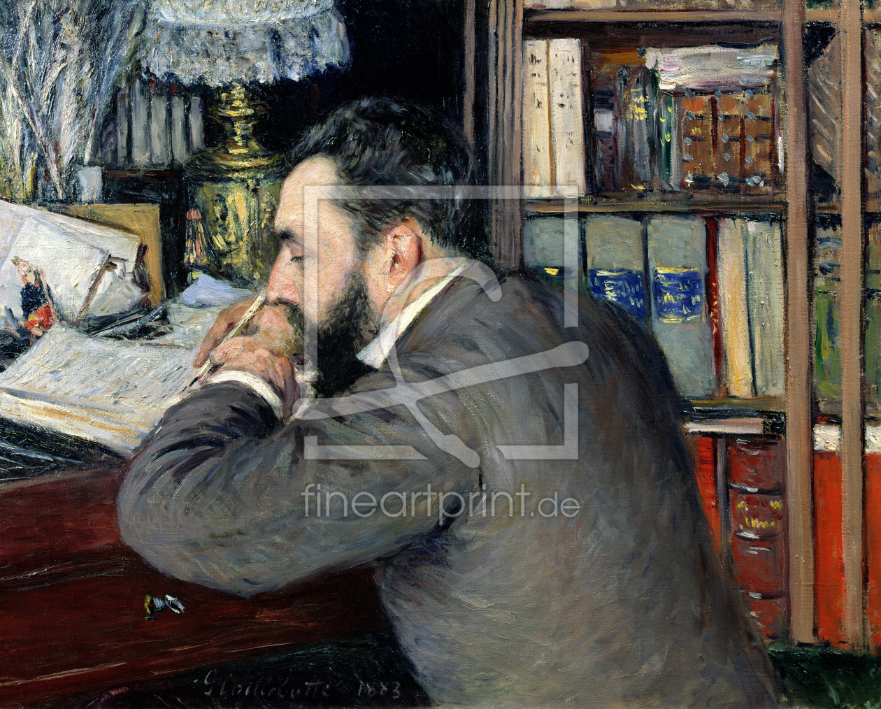 Bild-Nr.: 31002654 Portrait of Henri Cordier , teacher at the School of Oriental Languages, 1883 erstellt von Caillebotte, Gustave
