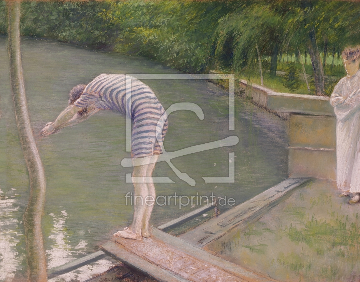 Bild-Nr.: 31002656 The Bather, or The Diver, 1877 erstellt von Caillebotte, Gustave