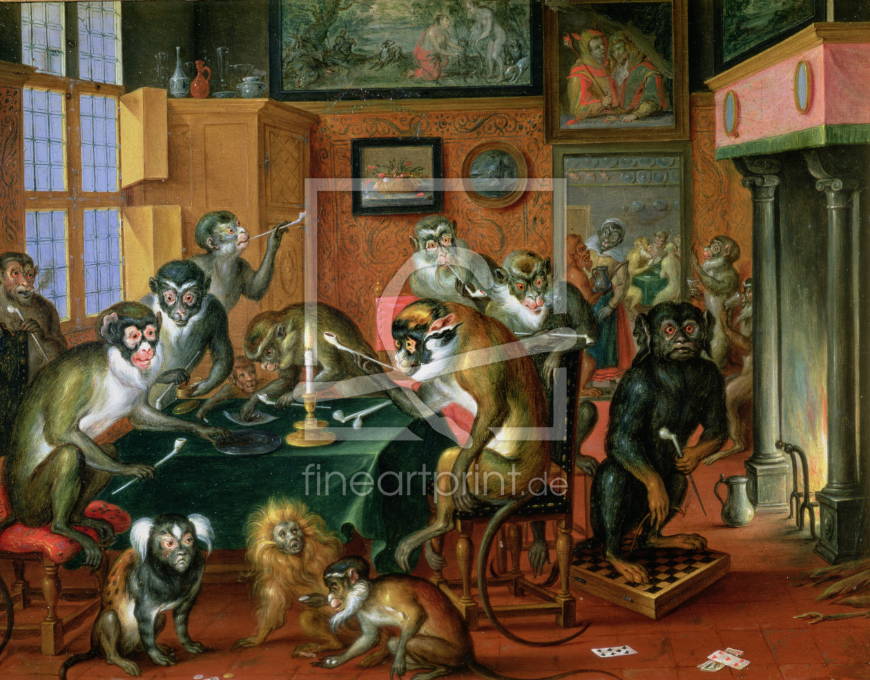 Bild-Nr.: 31002684 The Smoking Room with Monkeys erstellt von Teniers, Abraham