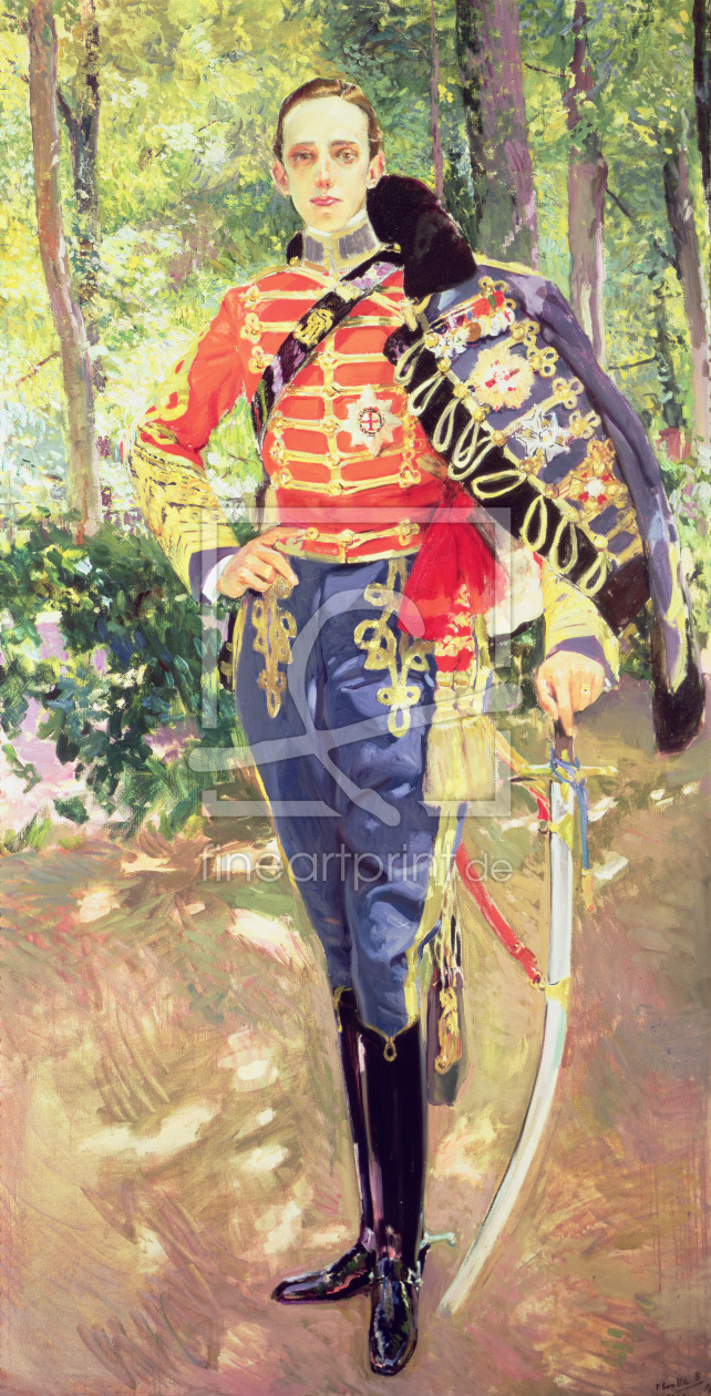 Bild-Nr.: 31002689 Portrait of King Alfonso XIII wearing the uniform of the Hussars, 1907 erstellt von Sorolla y Bastida, Joaquin