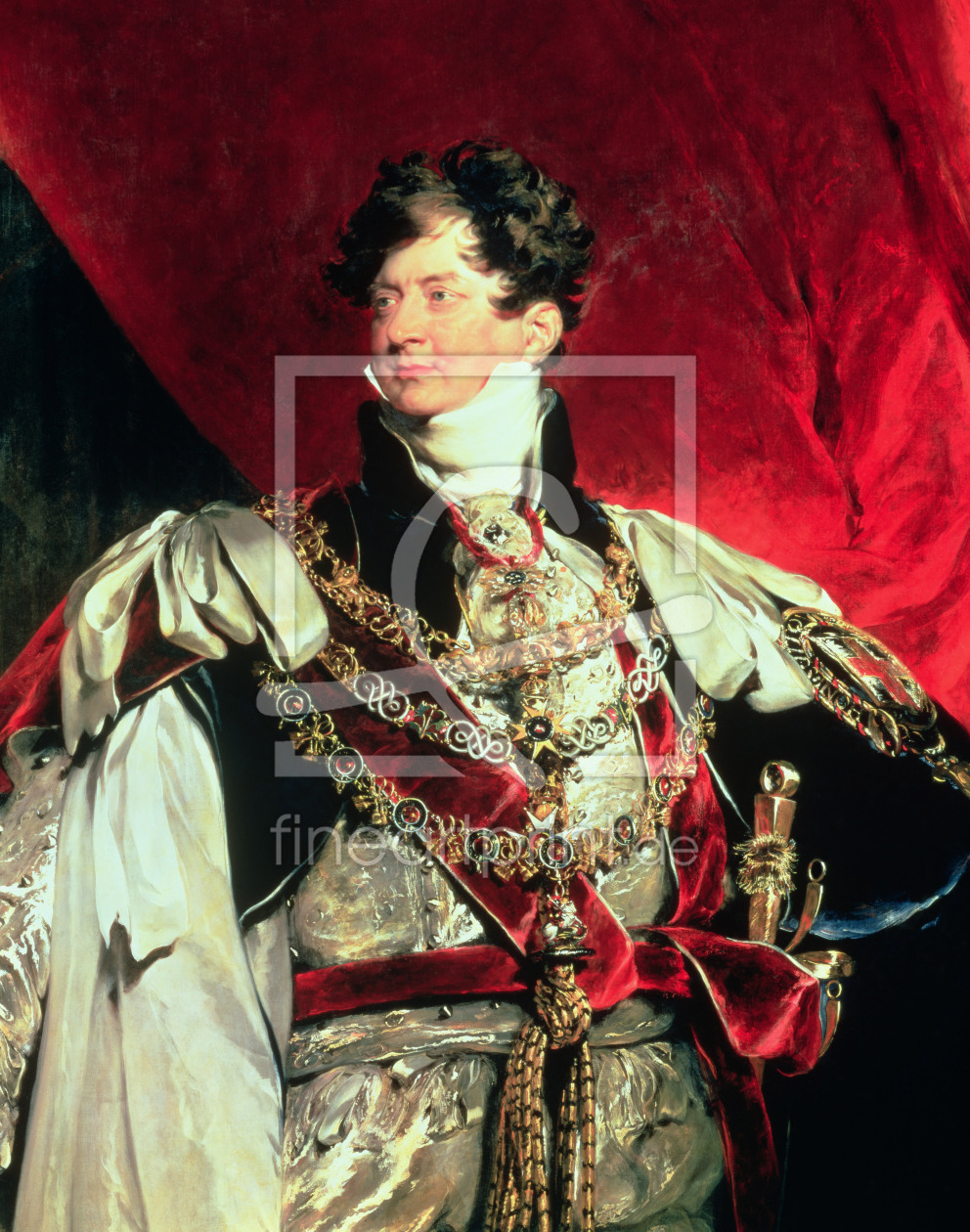 Bild-Nr.: 31002740 The Prince Regent, later George IV in his Garter Robes erstellt von