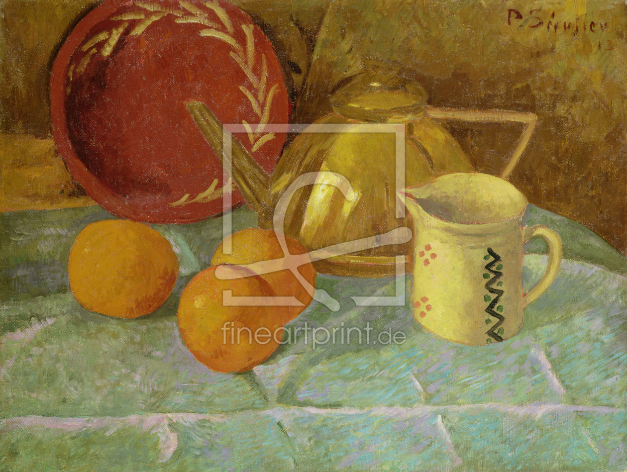 Bild-Nr.: 31002769 Still Life with Fruit and a Pitcher or Synchronization in Yellow, 1913 erstellt von Serusier, Paul