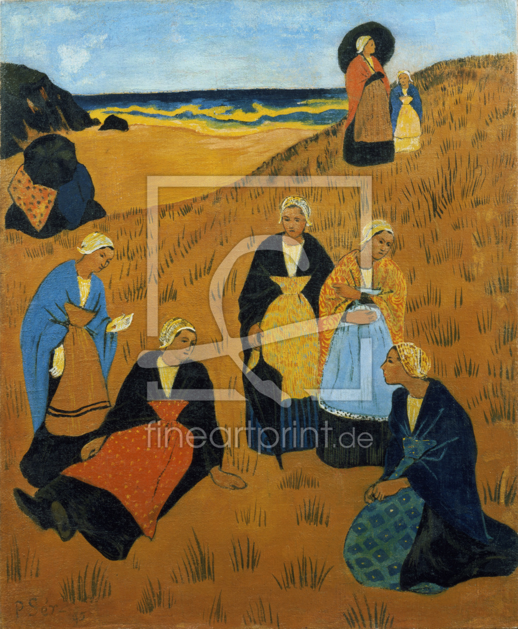Bild-Nr.: 31002776 Young Breton Women wearing Shawls, or The Girls of Douarnenez, 1895 erstellt von Serusier, Paul