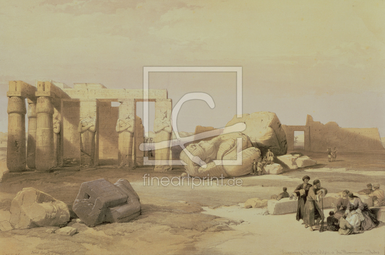 Bild-Nr.: 31002793 Fragments of the Great Colossus, at the Memnonium, Thebes, 1937 BC erstellt von Roberts, David