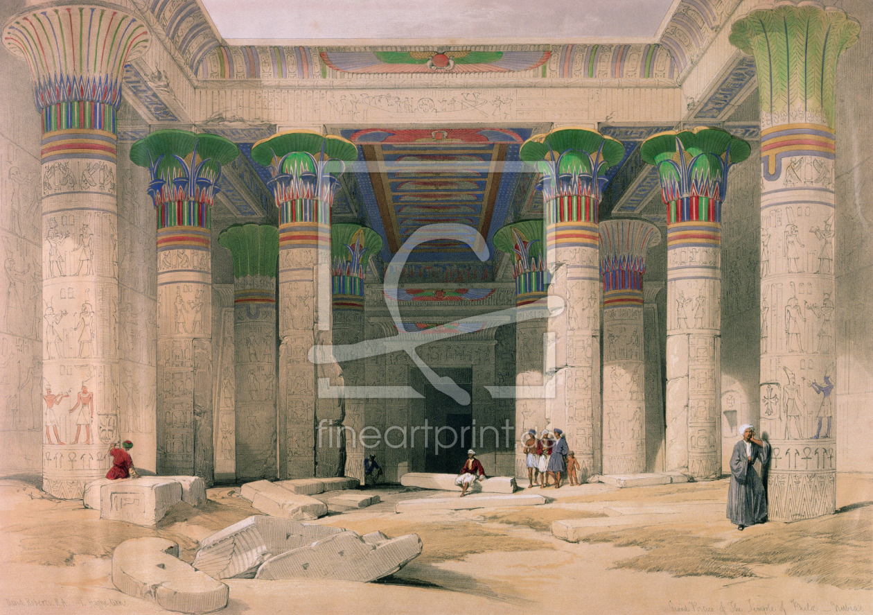 Bild-Nr.: 31002794 Grand Portico of the Temple of Philae, Nubia, from 'Egypt and Nubia', engraved b erstellt von Roberts, David