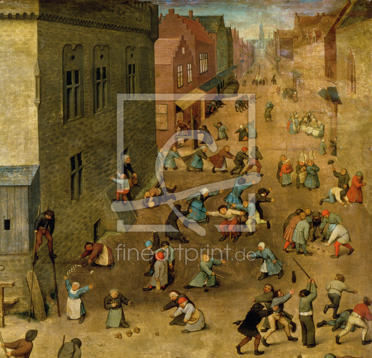 Bild-Nr.: 31002833 Children's Games : detail of top right hand corner, 1560 erstellt von Bruegel, Pieter the Elder