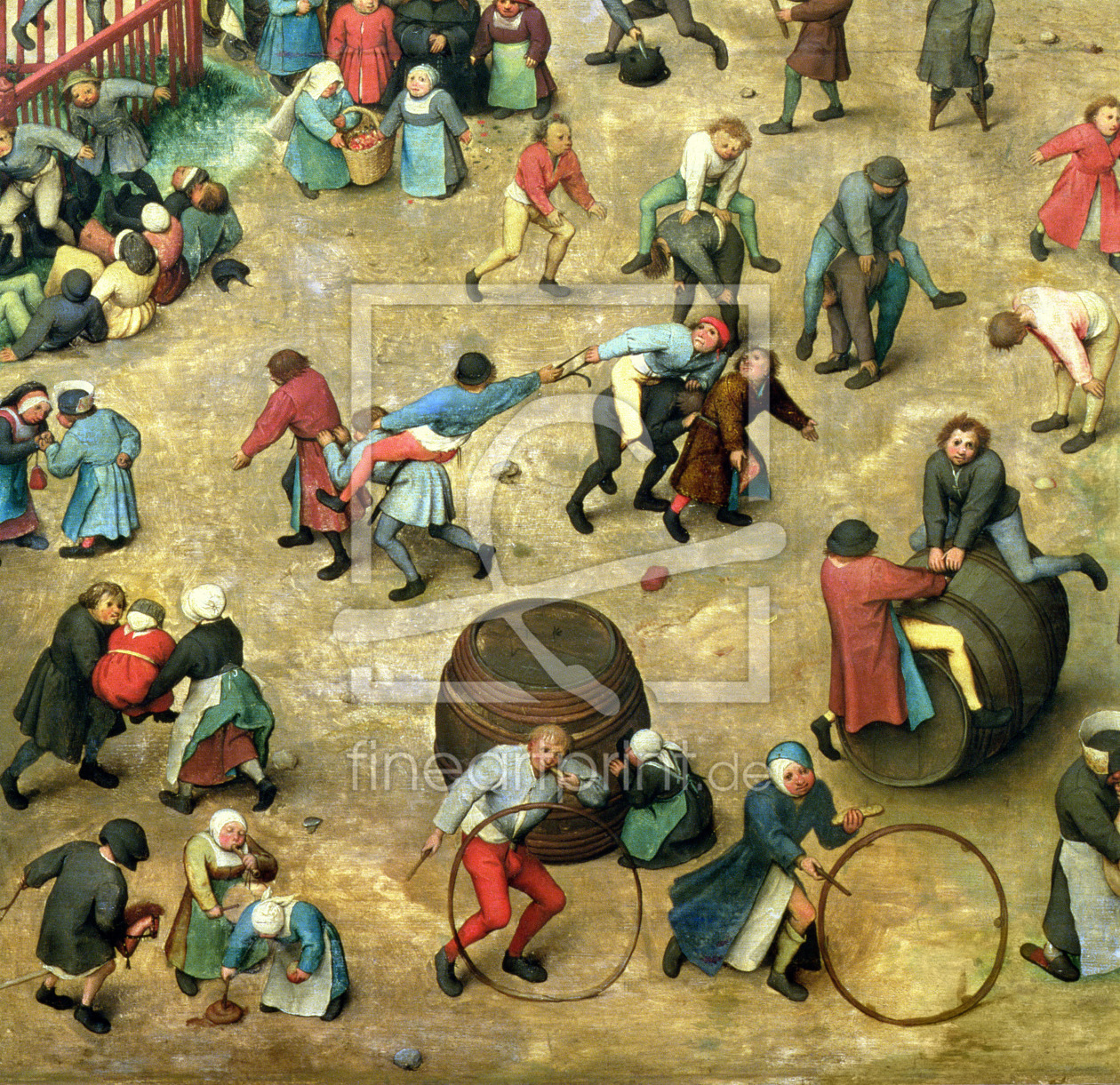 Bild-Nr.: 31002835 Children's Games : detail of bottom section showing various games, 1560 erstellt von Bruegel, Pieter the Elder