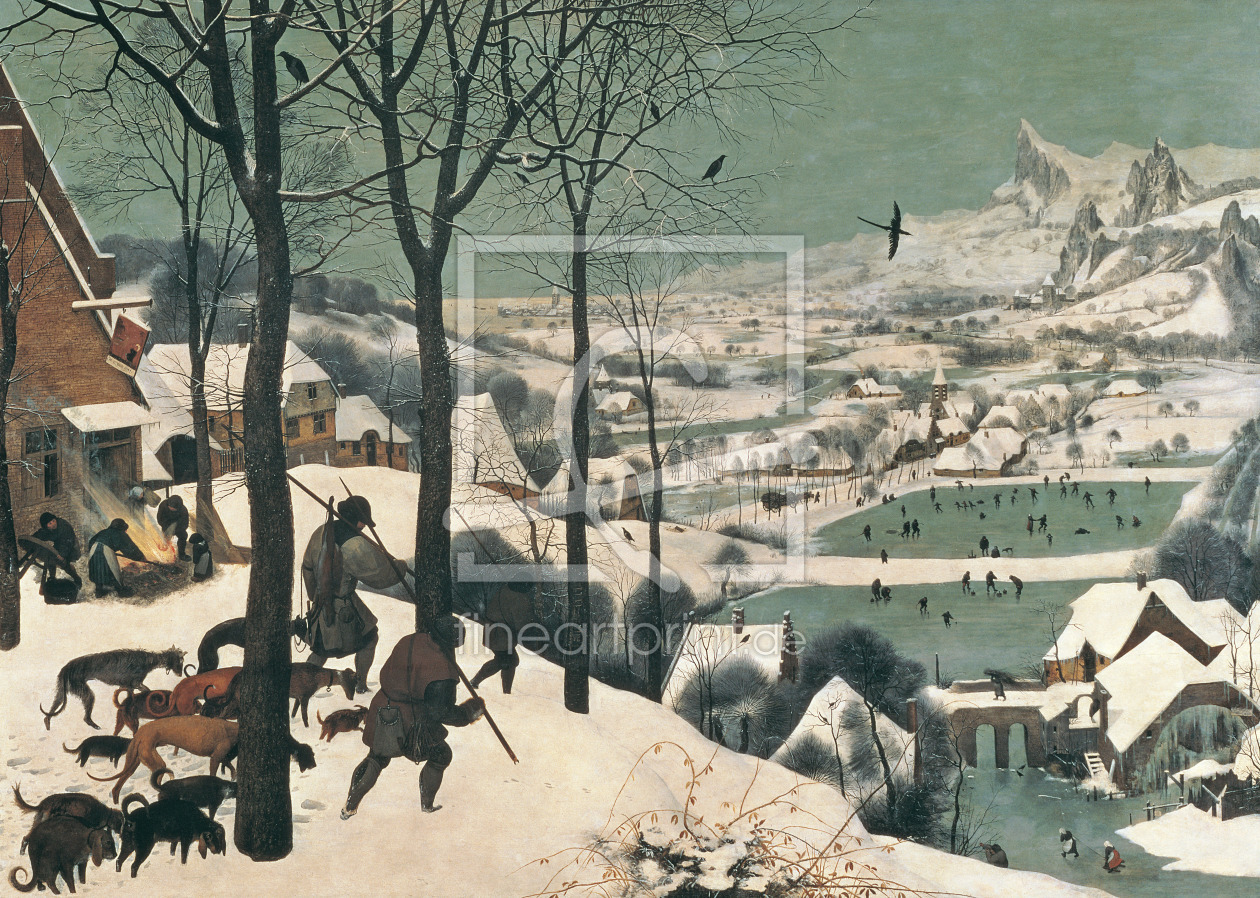 Bild-Nr.: 31002837 Hunters in the Snow - January, 1565 erstellt von Bruegel, Pieter the Elder
